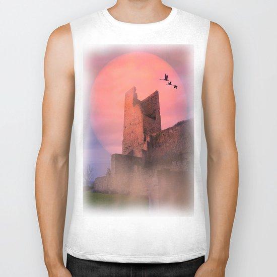 Castle in the evening Biker Tank