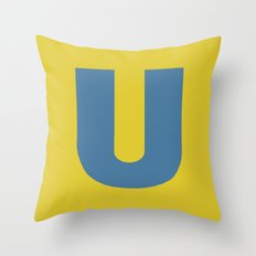 U is for... Throw Pillow