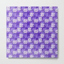 Swanky Mo Purple Metal Print