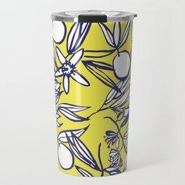 Orange Blossoms on Citron Travel Mug