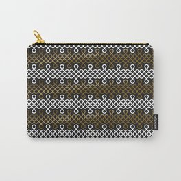 Endless Knot pattern - Gold & white Carry-All Pouch