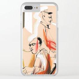 Jazz musicians concert Clear iPhone Case