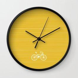 Yellow Bike by Friztin Wall Clock
