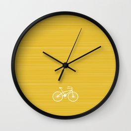 Yellow Bike by Friztin Wall Clock