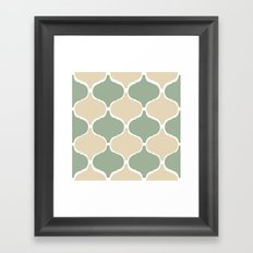 MARRAKECH Sand Green Framed Art Print