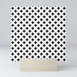Black Crosses on White Mini Art Print