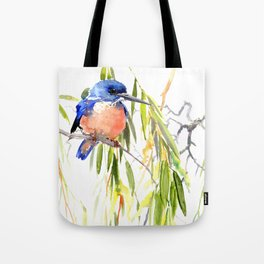 KIngfisher and Weeping Willow Tote Bag