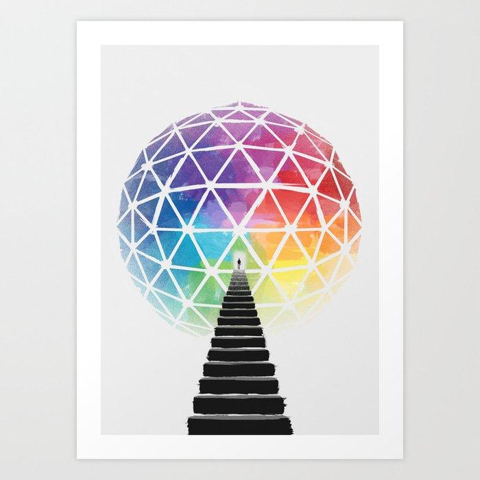 Geodream Light Art Print
