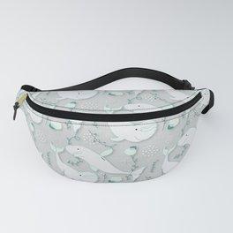 Beluga Whale Grey #homedecor Fanny Pack
