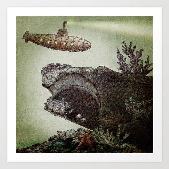 Leviathan (colour option) Art Print