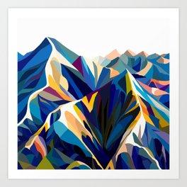 Mountains cold Art Print