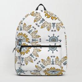 Sacred Esoteric Quartz Crystal Candle Magic Backpack