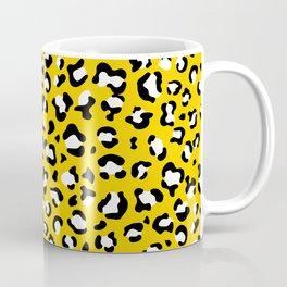 Animal Print, Spotted Leopard - Yellow Black Coffee Mug