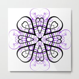 PURPLE SACRED GEOMETRY Metal Print