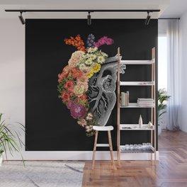 Flower Heart Spring Wall Mural
