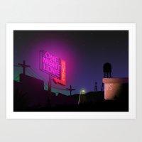 One Night Love Hotel Art Print
