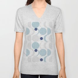 Blue Moon #society6 #decor Unisex V-Neck