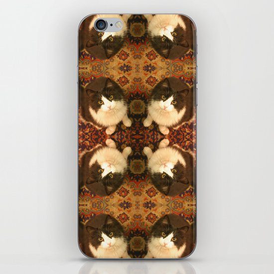Shchuka, kaleidoscopic cat iPhone Skin