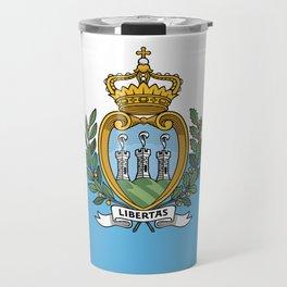 San Marino Flag Travel Mug
