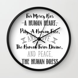 The human form divine, and peace, the human dress - Divine Mercy Sunday Wall Clock
