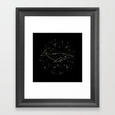 Whale Constellation Framed Art Print