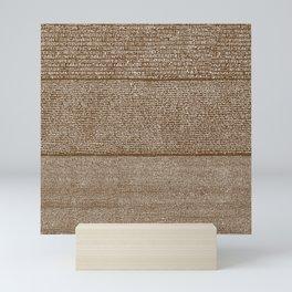 The Rosetta Stone // Dark Brown Mini Art Print