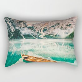 Boats on the lake Rectangular Pillow