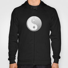 Gradient black and white swirls doodles Hoody