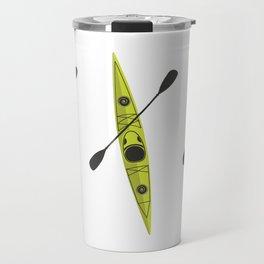 Kayak - Lime Green Travel Mug