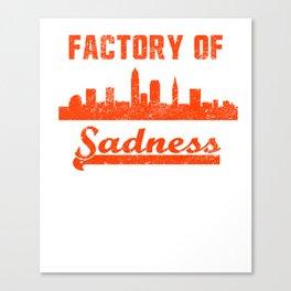 Cleveland Factory of Sadness City Skyline  Canvas Print