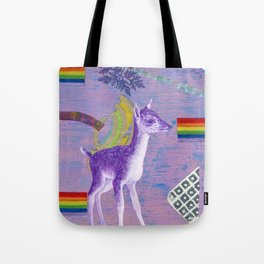 rainbow deer 1 Tote Bag
