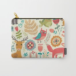 Woodland Animal Pattern Carry-All Pouch