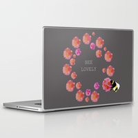 bee Laptop & iPad Skins featuring Bee by Chelle Shaw