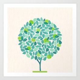 Mid Century Lime Tree Art Print