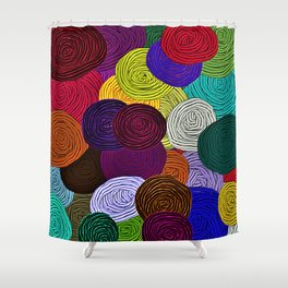 Colorful Circle Art Shower Curtain