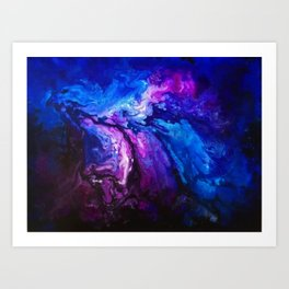 SPLASH OF COLOUR Art Print