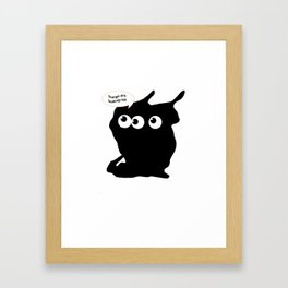 Things are looking up! Framed Art Print