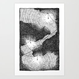Lights Underground Art Print