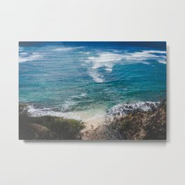 Surfer meets Sea - Diamond Head / Oahu / Hawaii Metal Print