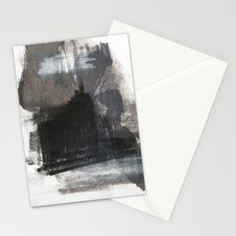 Abstract Texture, Black White & Grey Texture 1 Stationery Cards