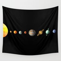 solar system Wall Tapestries featuring The Solar System by Terry Fan