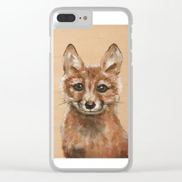 Nursery Art / Decor - Woodland bay fox Clear iPhone Case
