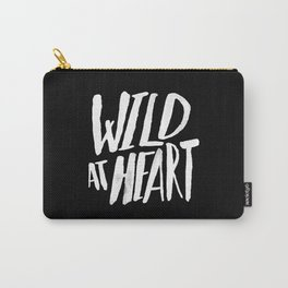 Wild at Heart x Black and White Carry-All Pouch