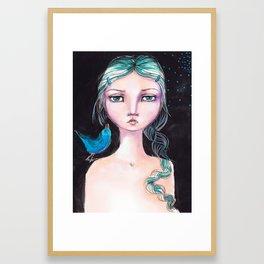 Blue Bird by Jane Davenport Framed Art Print