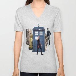 Doctor Who & Enemies Unisex V-Neck
