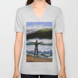 Vitruvian Surfer Unisex V-Neck
