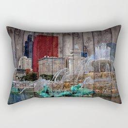 I Love Chicago Rectangular Pillow