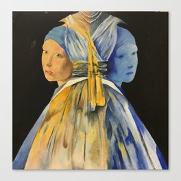 Nights with Vermeer Canvas Print