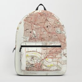 Sacramento East, CA from 1949 Vintage Map - High Quality Backpack