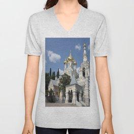 Alexander - Newski - Church - Yalta Unisex V-Neck